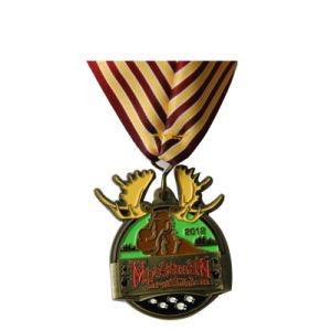 BSCI Hersteller-fördernde antike Silbermedaille mit Diamanten (026)