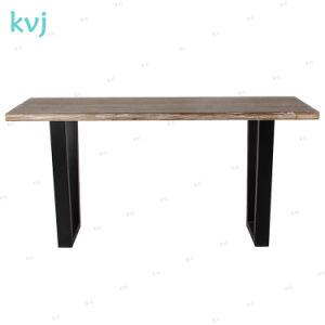 В деревенском стиле-7228 Kvj промышленных стальная мелиорированных обеденный стол из дуба