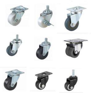 As rodas do caster industrial ou PVC preto PU Diamante