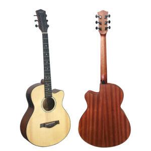 40 pulgadas de abeto macizo Top Cadena acero guitarras Folk eléctrica Guitarra acústica para la venta