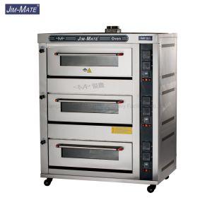 Jmc-60r 3 Deck 6 bacs plaque en aluminium Chambre Four gaz commercial