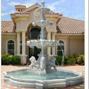 Fontana quadrata/rotonda di scultura di pietra naturale del marmo/granito per il giardino/esterno/decorazione/paesaggio/iarda
