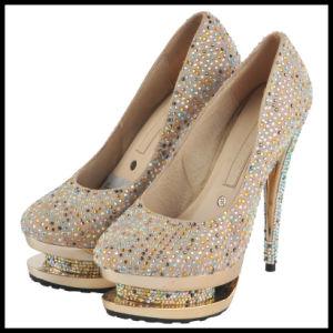 Diamante señoras de Tacón zapatos de boda