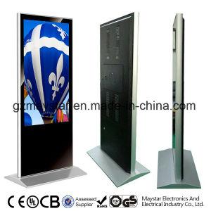 Affissione a cristalli liquidi calda del basamento del pavimento del USB di vendita di 47 pollici che fa pubblicità al chiosco