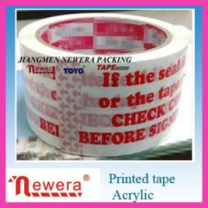 De embleem Afgedrukte Zelfklevende Band van de Verpakking BOPP voor het Verzegelen van het Karton