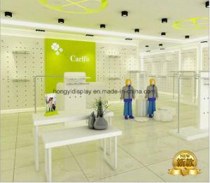 Boutique Hubsche de montage en rack du caisson de nettoyage de la fonction de l'enfant de 2 niveaux Double affichage du compteur de bac Kid Chaussures vitrine Affichage en carton de bureau