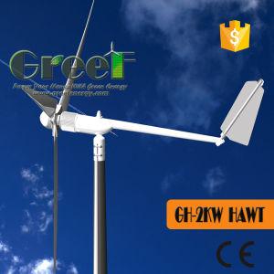 2kw het horizontale systeem van de Turbine van de Wind van de As met BV