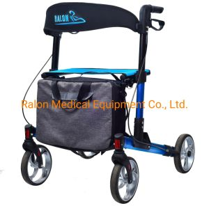 Um passo Rollator Alumínio dobrado para idosos e deficientes