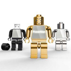 Металлический флэш-накопитель USB робота Hot-Selling новый диск памяти робота