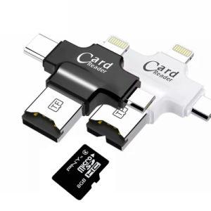 Lecteur de carte mémoire USB 2.0 Lecteur de carte Micro SD pour Android iPad/iPhone 7plus 6s5s lecteur OTG Type 4 en 1-C Lecteur Flash USB