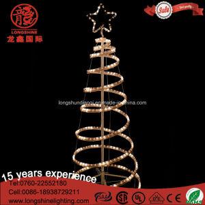 Licht van de LEIDENE het Opvlammende Decoratieve 3D Spiraalvormige Kerstboom van de Kabel voor de OpenluchtDecoratie van de Tuin