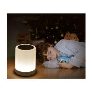 Multi-Colored Noche de Luz LED cambia de color hermoso Mini Altavoz