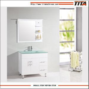 Fußboden-stehende Eitelkeit weißer MDF-Badezimmer-Möbel-Schrank