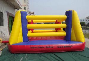 Lona inflables juego deportivo cuadrilátero de boxeo
