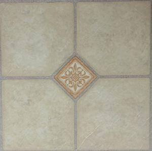 Lei van pvc maakte de Geometrische Tegels van de Vloer van Vinly van het Patroon in reliëf