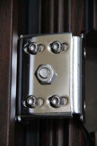 グリル(SC-S158)との単一の安全鉄のドアデザイン
