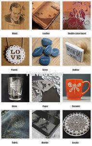 石のためのレーザーの彫版機械かプラスチックまたはモデル切断または建物