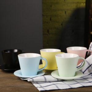 8oz Cappuccino 커피 찻잔과 접시 세라믹 커피 잔 세라믹 차 찻잔과 접시