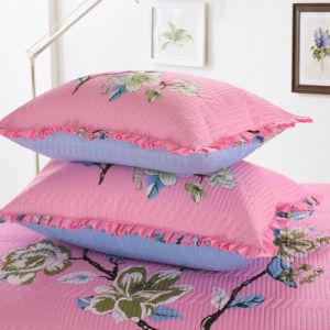 ひだの軽量の低刺激性の綿はキルトのCoverletの一定のベッドカバーセットを印刷した