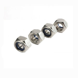 Différentes tailles de DIN982 Nylon-Insert-l'écrou hexagonal avec du matériel en acier au carbone