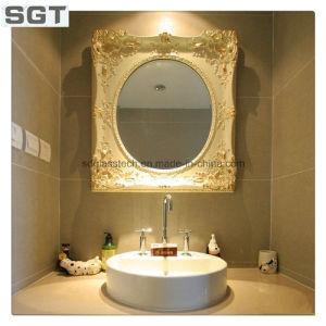 Ba o redondo espejo con marco de acero inoxidable ba o for Espejo redondo con marco