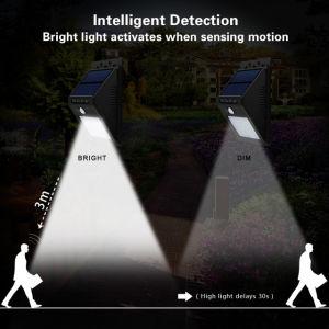 動きセンサーが付いている太陽LEDの庭の壁ライト