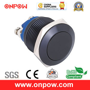 Onpow 19mm Metal Pushbutton Switch (GQ19F-10/A、CCCのセリウム、RoHS Compliant)