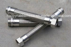 男性/女性の付属品が付いているステンレス鋼の軟らかな金属のホース
