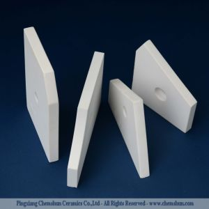 Haut de la plaque d'usure d'alumine de carreaux de céramique pour chemise d'usure