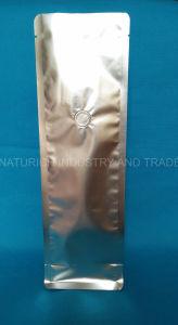 Food Grade junta cuádruple de la bolsa de embalaje de plástico para café té café normal bolsa blanca mate junta cuádruple de la bolsa de café con válvula