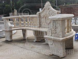 op Bank van het Park van de Steen van het Meubilair van de Decoratie van de Tuin van de Verkoop de Openlucht Marmeren Snijdende