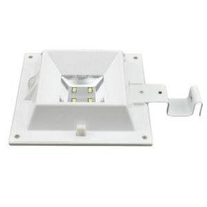4つのLED正方形の太陽ランプの動きセンサーの屋根の溝の塀の太陽軽い防水太陽庭ライト