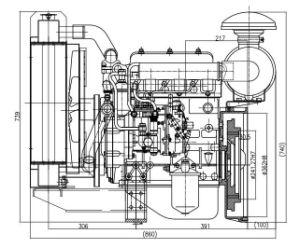 販売は発電機QC380dのための提供され、ディーゼル燃料のディーゼル機関を整備する