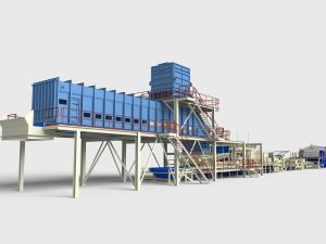 A linha de produção de MDF com capacidade diferente