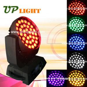36PCS 18W RGBWAの紫外線6in1ズームレンズの洗浄LED移動ヘッド