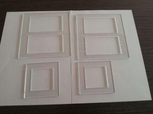 Tamanho personalizado da Placa da Tampa do Interruptor de vidro temperado/Tampa do Interruptor de parede