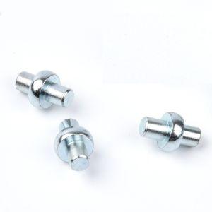 Laiton à tête ronde/cuivre moleter Rivet solide