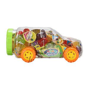 Un surtido de coche Mini Tarro jalea de la Copa de frutas
