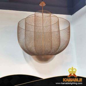 Malla tejida de hierro de lujo restaurante de la decoración del hogar Pendant Lighting (KTT01).
