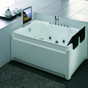 Luxus Gehen-in Tub Whirlpool Bathtub Indoor Whirlpool Bathtub mit Fernsehapparat (SR557)