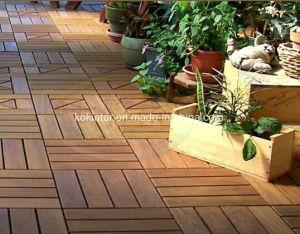WPC DIYの床タイルDIYの連結の床タイルのDeckingの床