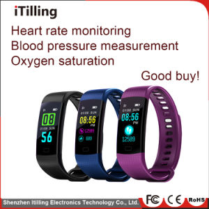지능적인 팔찌 악대 소맷동 적당 추적자 심박수 모니터, 혈압 모니터와 가진 지능적인 시계 전화 팔찌 시계