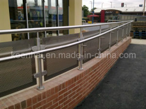 Guardrailとして外部のLow Wall Mounted Stainless Steel Handrail