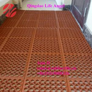 オイル抵抗力がある安全台所マットに床を張る3 ' *5'* 1/2の anti-Fatigueゴム製クッション