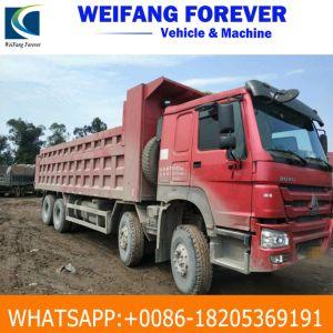De gebruikte Vrachtwagen van de Stortplaats HOWO van de Apparatuur van Machines Constructtion 6*4 Rode