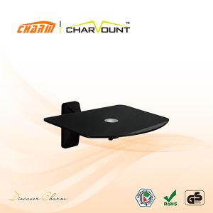 Economia, Alumínio e vidro temperado, suporte de prateleira de montagem do DVD (CT-DVD-34B)