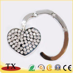 Мода подарок в форме сердечка сложенной спинке крючок вешалки для таблиц с алмазной
