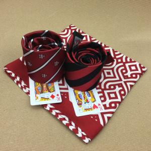 Hechos a mano 100% seda corbata con el logotipo de tejidas bufanda coincidentes