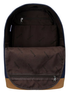 Viagens no exterior personalizado de moda de poliéster azul mochila Escolar Saco para computador portátil