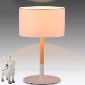 Moderne modernes und einfaches weißes Schreibtisch-Licht-Gewebe-hölzerne Tisch-Lampe